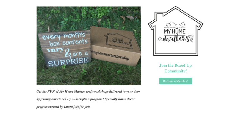 subscription box DIY home decor