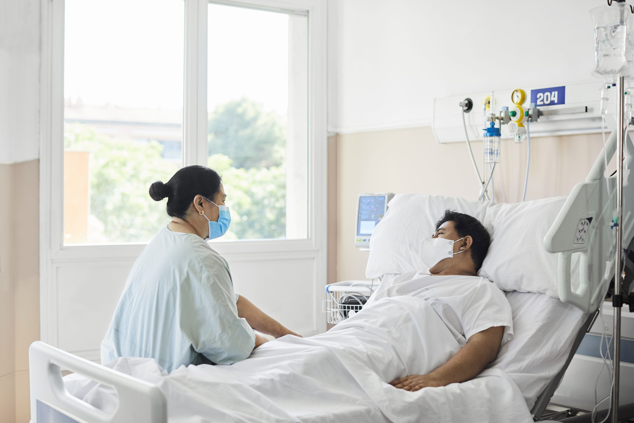 Visitors waiting in healthcare facility