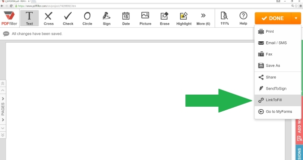linktofill, share pdf documents online, how to share pdf online, PDFfiller,