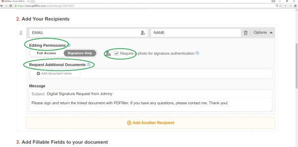 sign document, sign a digital document, Send To Sign, add signature pdf, digital signature, signature request, PDFfiller