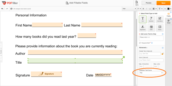 Fill in Bulk, create fillable forms, create fillable pdf form, PDFfiller, document editor online,