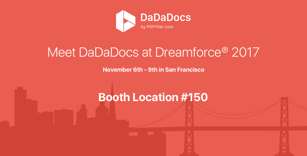 dadadocs at dreamforce 17 all in one document generator pdf editor
