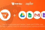 Zapier, business automation, EHR, healthcare, document management, digital workflow, PDFfiller