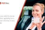 driver's license, learner's permit, submit driver's license application online, PDFfiller, digital workflow, PDF editor