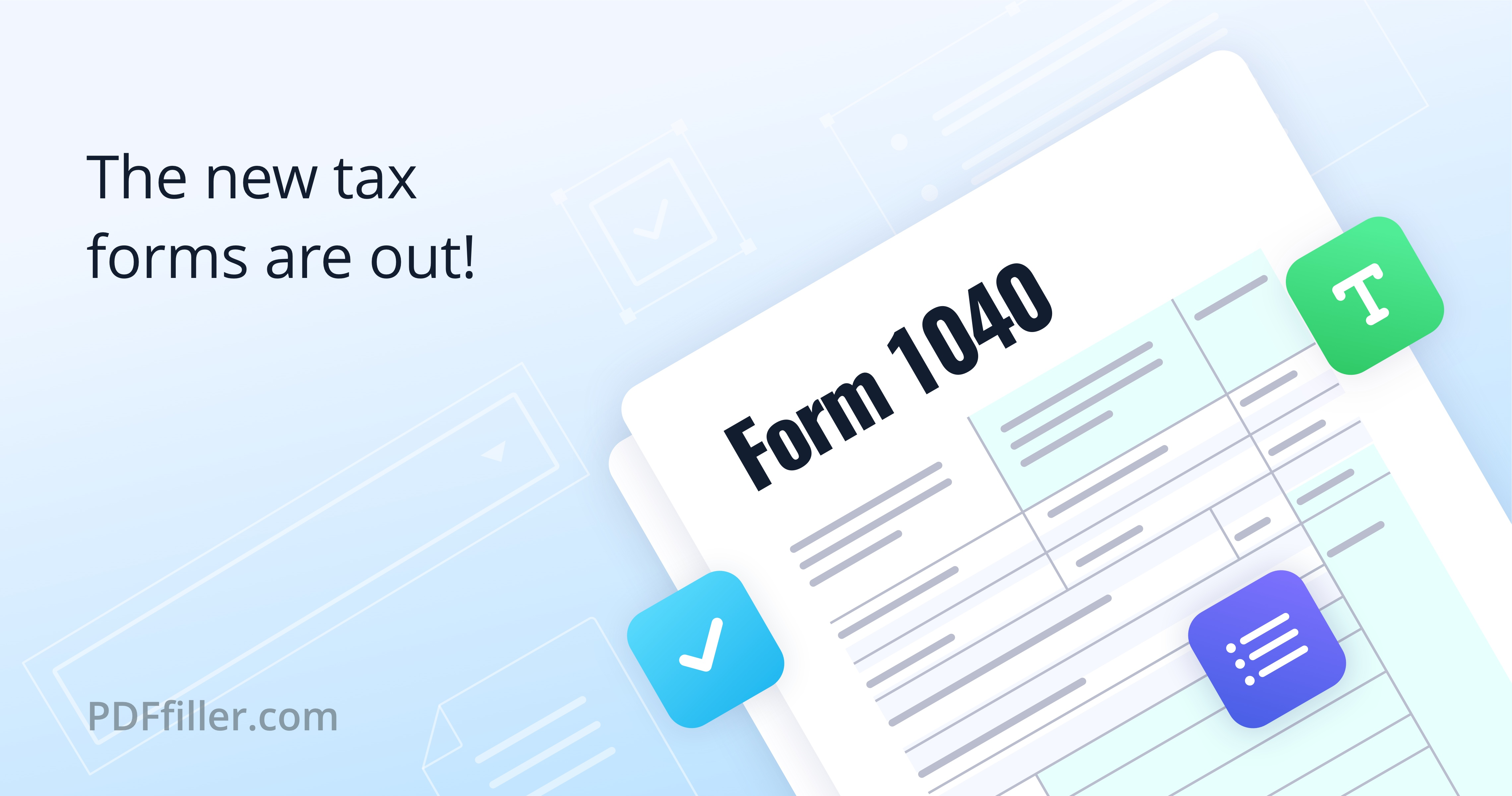 Irs Form For Easier Format And New Schedules