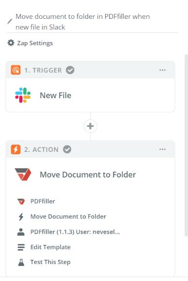 PDFfiller & Slack Integration on Zapier