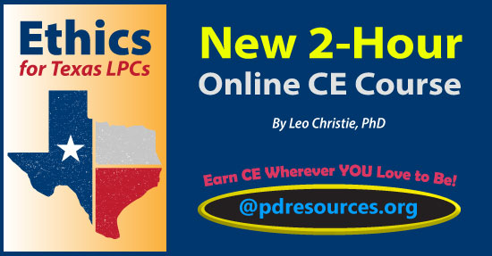 Ethics for Texas LPCs is a 2-hour online continuing education (CE) course that meets the ethics requirement for license renewal of Texas licensed professional counselors (LPCs).