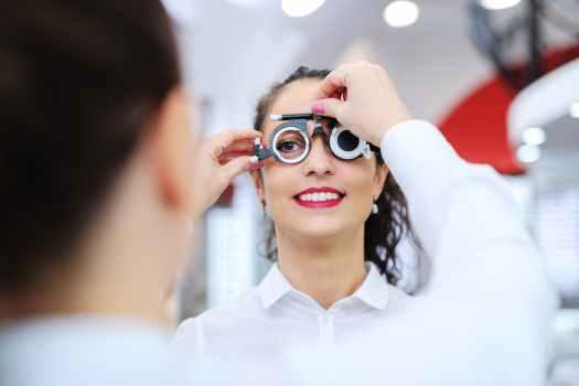 Oogmeting voor een leesbril