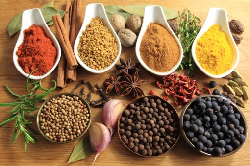 Cinnamon, pepper and other warming spices.