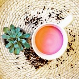 HIbiscus-Green Tea Latte