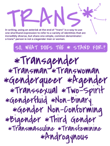 Trans* Poster