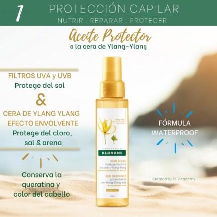 Aceite protector capilar Klorane a la cera de Ylang Ylang Perfumerías Ana
