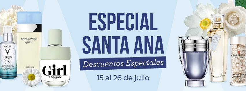 Descuentos especiales Especial Santa Ana Perfumerías Ana