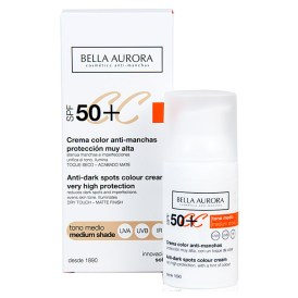 Bella Aurora Crema Color Spf-50 30ml. Medio Perfumerías Ana