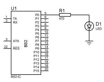 Flashing-LED-source