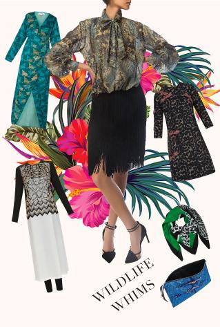 Wildlife Whims - Printed Dress