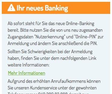 Netbank hat nicht informiert!