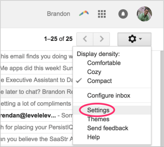 gmail settings for email productivity