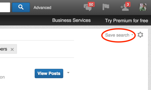 save a search on linkedin