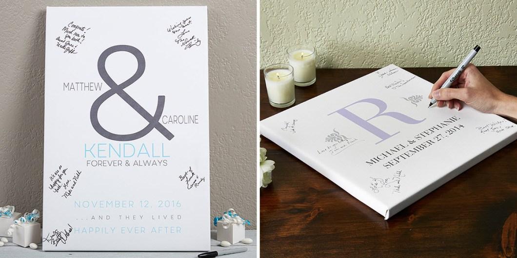 Canvas Print Wedding Book Idea