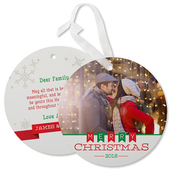 Photo Ornament Christmas Card