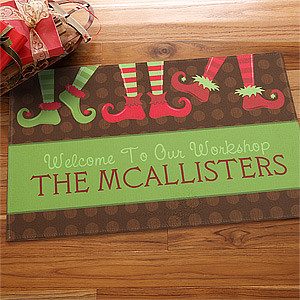 custom holiday doormat