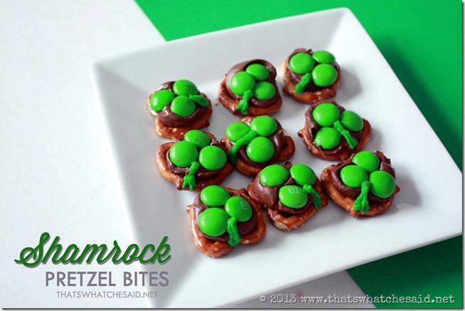 shamrock pretzel bites