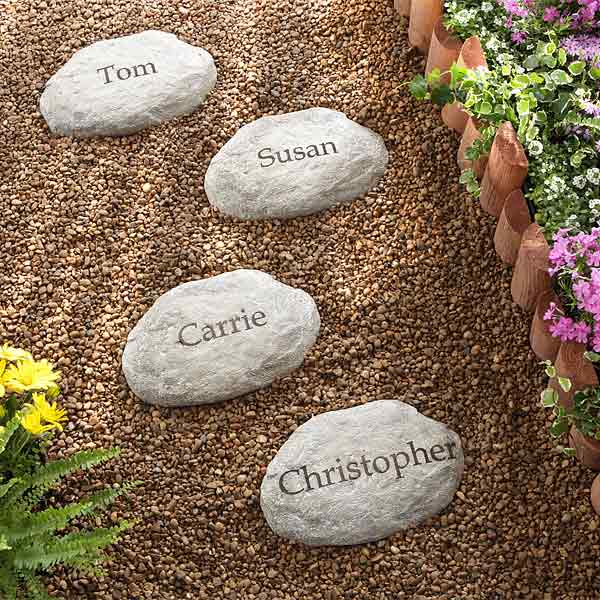 custom garden stones