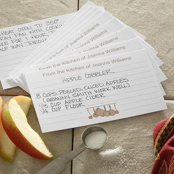 custom recipe cards