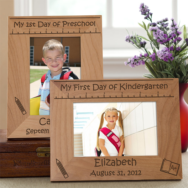 back to school wood frame