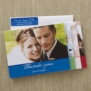 PersonalizationMall's Wedding Thank You Photo Note Cards