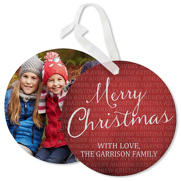 Photo Ornament Card