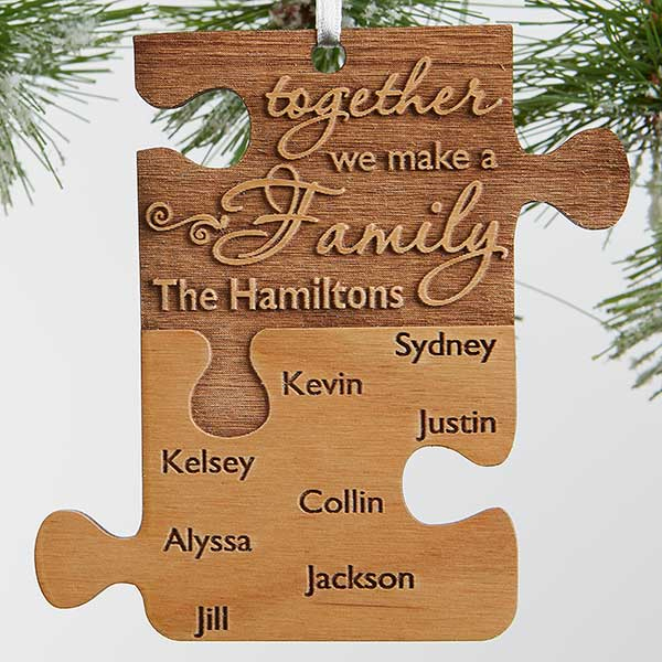 Pieces Of Love Personalized Family Ornament