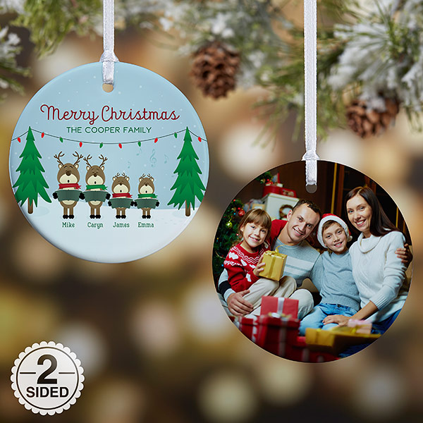 Reindeer Family Personalized Ornament