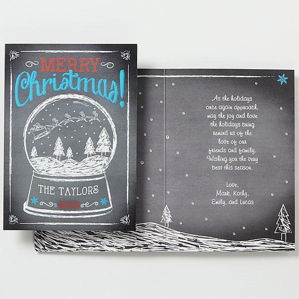 Custom Snow Globe Christmas Card