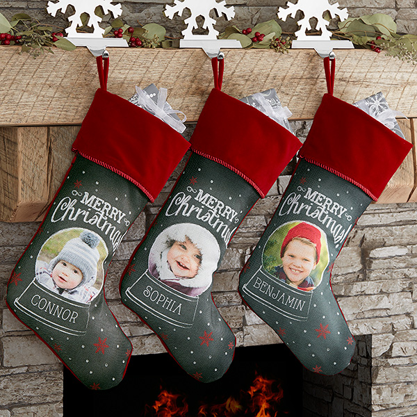 christmas photo stockings