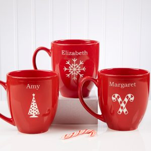 Holiday Cheer Personalized Bistro Mug