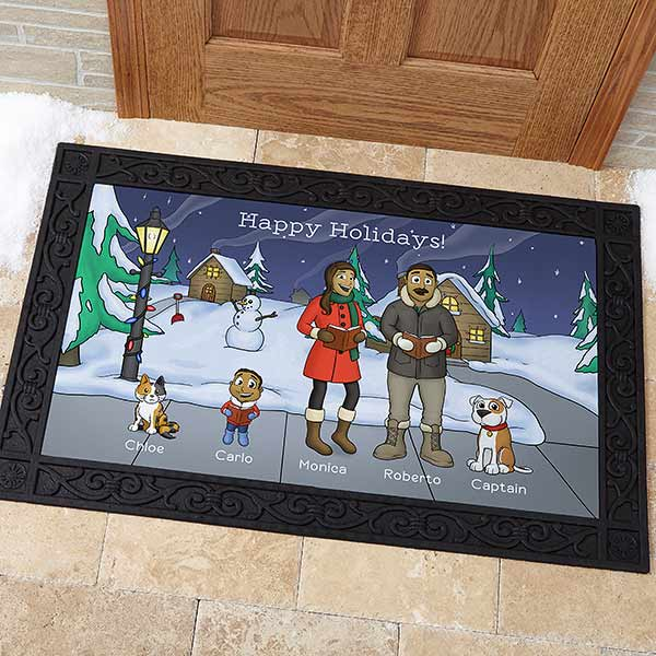 Personalized Christmas Doormat