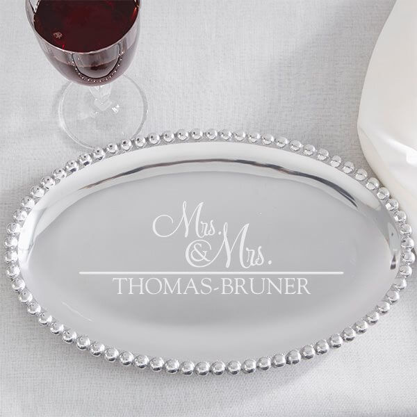 Personalized Serving Tray Wedding Gift