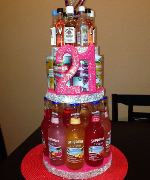 21st birthday booze cake 21st birthday booze cake & 10 Fun Ideas For 21st Birthday Gifts