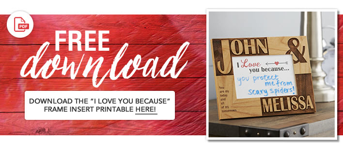 """Download Free Printable """"I Love You Because"""""""