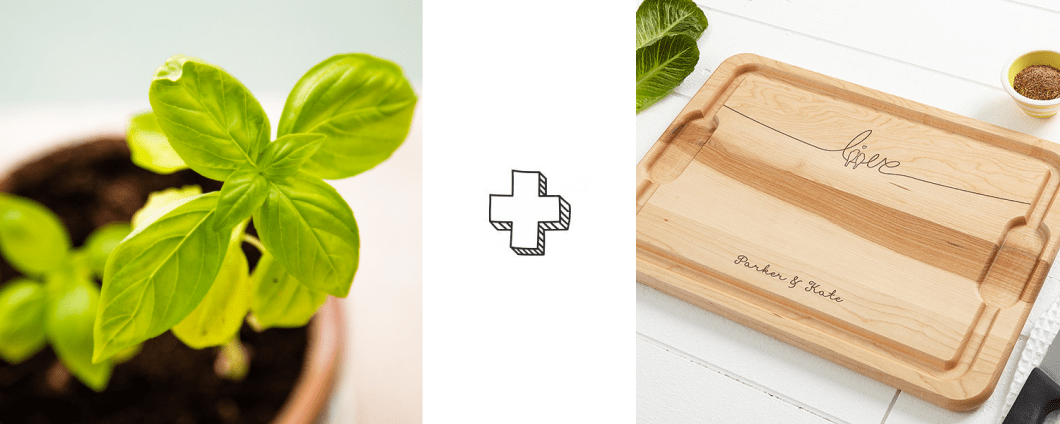 Herb Garden + Cutting Board = Gift