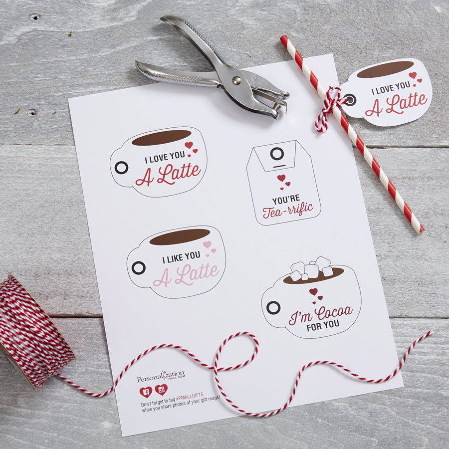 Valentine's Day Printable - I Love You A Latte