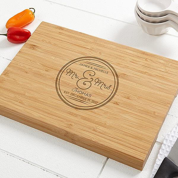 Engraved Cutting Board Wedding Gift