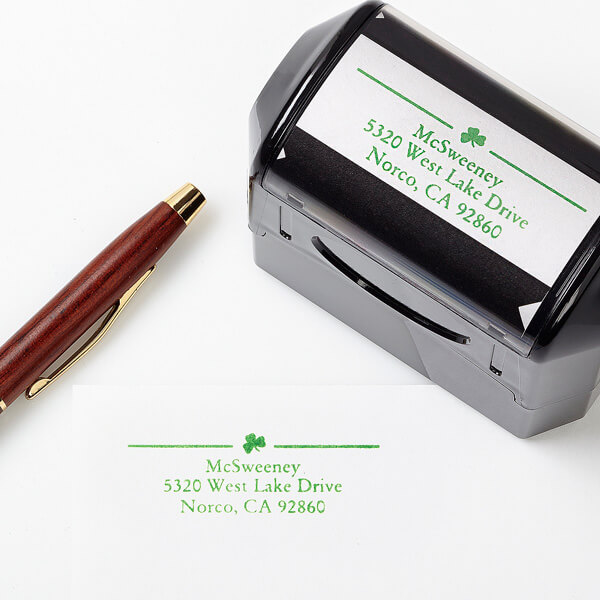 Irish Pride Self-Inking Address Stamp