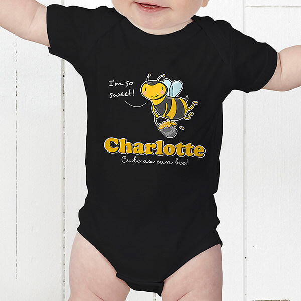 Lovable Bee Personalized Kid's Clothes