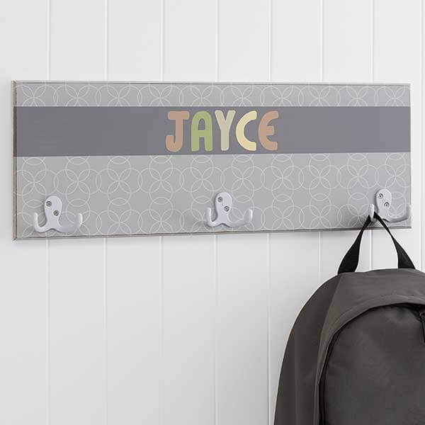 Trendy Boy Personalized Coat Rack