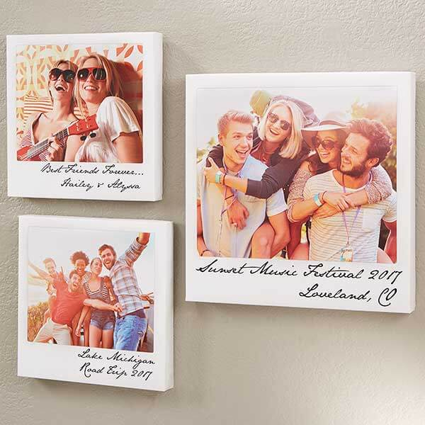 Polaroid Style Canvas Prints