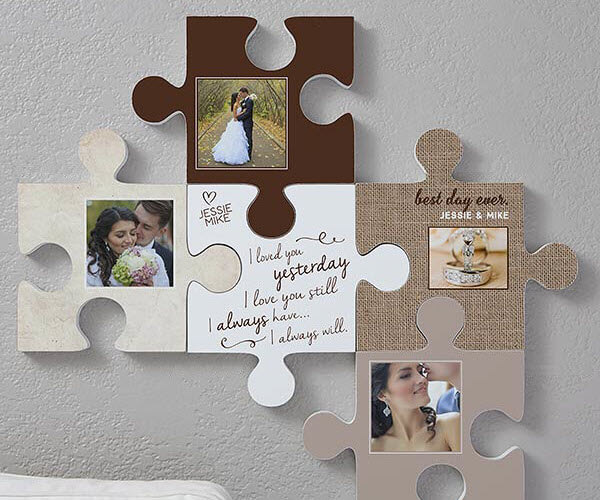 Wedding Puzzle Piece Wall Decor
