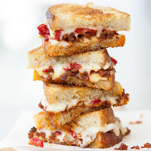 Chorizo & Peppadew Pepper Grilled Cheese
